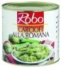 CARCIOFI ALLA ROMANA 2.650 gr. ROBO - Alcachofas enteras, salteadas con ajo y perejil.